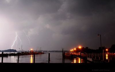 Thunderstorms and Lightning over Braddock Bay - August 9, 2009