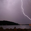 Thunderstorms and Lightning over Irondequoit Bay - August 9, 2009