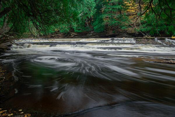 Presque Isle River with Swirls
