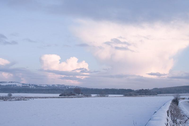 Loch of Skene frozen.