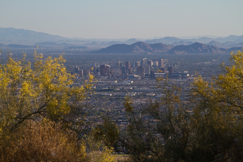 This photo was taken from South Mountain Park at about 6am of the city of Phoenix.
