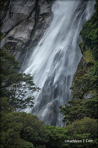 Waterfall, Milford Sound, New Zealand