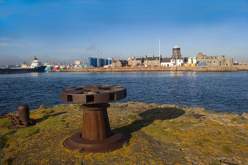 Aberdeen Harbour and the Old Round House.