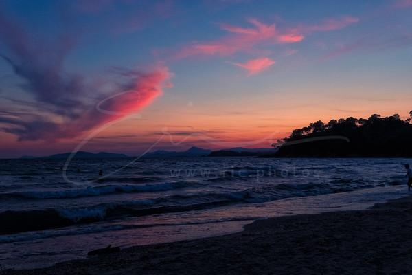 le coucher du soleil à la plage de Cabasson | sunset at the beach