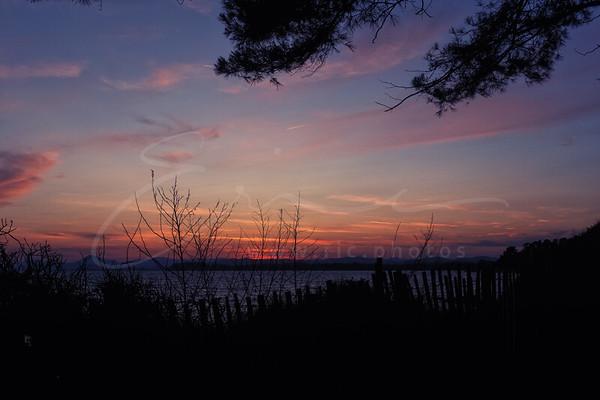 le coucher du soleil à la plage de Brégançon | sunset at the beach
