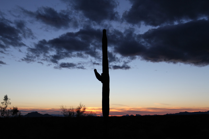 Arizona Sunset. This photo was taken from the Bush Highway turn off from the Bee Line Highway.