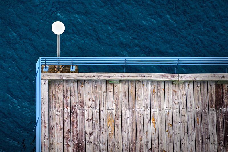 Caribbean dock.