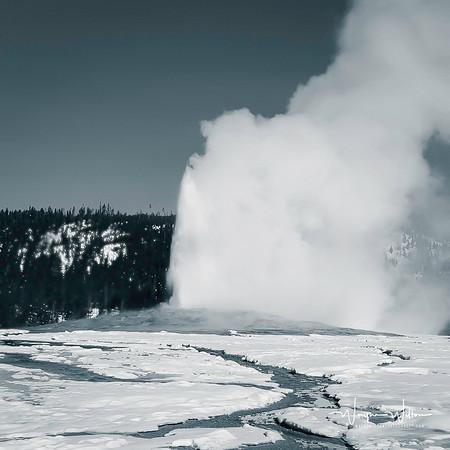 "Yellowstone National Park's ""Old Faithful"""