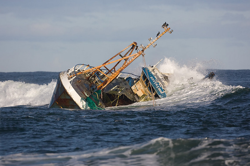 Soverign fishing boat grounded near Peterhead.