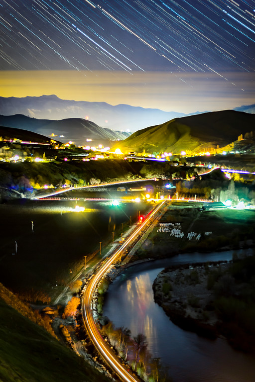 Wenatchee River Star Trails