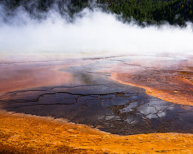 Detail of Grand Prismatic Spring at Midway Geyser Basin