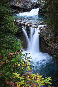 Waterfall at Johnston Canyon