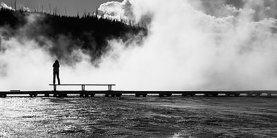 Boardwalks on Grand Prismatic Spring at Midway Geyser Basin