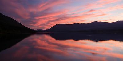 Sunset on Lake McDonald