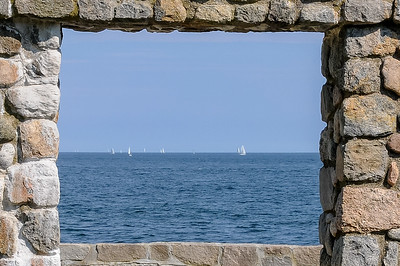 Sailing Framed in Stone