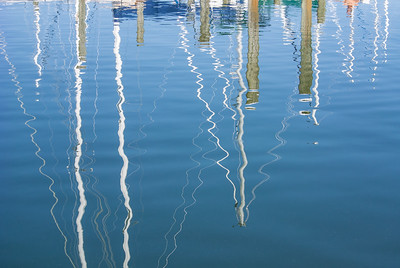 Sailboat Mast Reflections