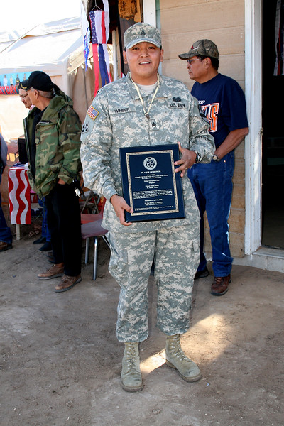 WELCOME HOME AND CELEBRATION OF SERVICES RENDERED TO U.S.A. WITH THE US ARMY - NOLAND WHITE