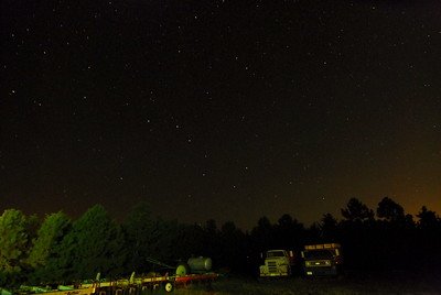 The Big Dipper Hangs in the Northern Sky