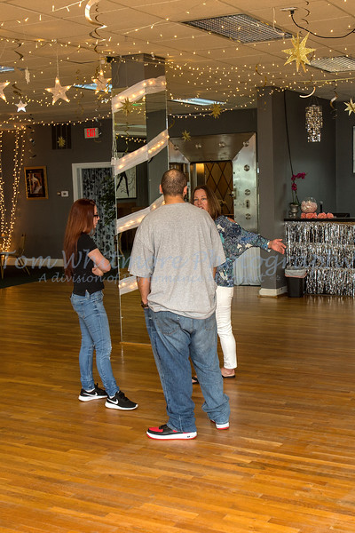 Dance practice with Amy Hontos at Dancemasters Ballroom.