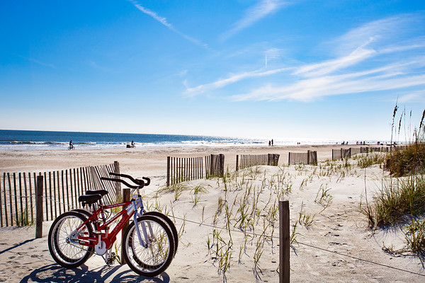Biking the beach