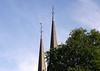 Spires of the De Krijtberg - Francis Xavier Church - Grachtengordel (Canal Ring) district - Amsterdam