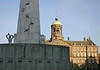 From the base of the shaded National Monument - to the early morning sunlit Royal Palace - Amsterdam