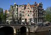 Prinsengracht (Prince's Canal) - the outer canal of the Grachtengordel (Canal Ring) district - with the merchant houses and hoists atop the gables - Amsterdam