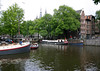 Across the Prinsengracht (Prince's Canal), at the boundary of the Old Center district with the Jordaan district - to the spires of the Posthoornkerk (church) along the horizon - Amsterdam