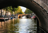The canal system of Amsterdam consist of about 165 canals extending 62 mi. (100 km) in combined length, and about 1500 bridges.