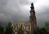 Cumulonimbus cloud forming above the Westerkerk (West Church) - in the Grachtengordel (Canal Ring) district - Amsterdam