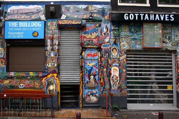 Facade of the Bulldog #90 - Amsterdam's first Coffeeshop