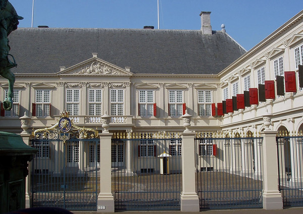 Oude Hof (Old Court) - a section of the Nordeinde Palace, one of the three official palaces of the Dutch royal family - this is the working palace for the Monarchy - here in The Hague - South Holland province