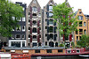 Across the houseboats to the refurbished merchant warehouses (condos on the canals) - Amsterdam