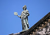 Personification of Prudence (one of the four virtues of governance), sculpted and placed upon the roof of the Royal Palace - Amsterdam