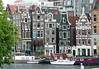 Across the Amstel River - to the historic merchant warehouses, today not totally square with their foundation - Old Center district - Amsterdam