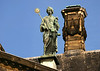 Personification of Justice (one of the four virtues of governance), sculpted and placed upon the roof of the Royal Palace - Amsterdam