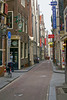 Warmoesstraat (Potherbs Street) in Old Town - northwest section of the Old Town district - Amsterdam
