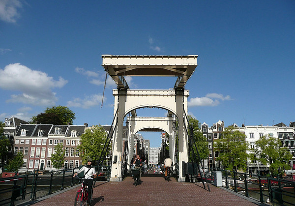 Across the Magere Brug (Skinny Bridge) - onto the Nieuwe Kerkstraat (New Church Street) - district of Plantage (Plantation) - Amsterdam