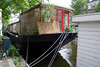 Houseboats along a side canal in the Jordaan district - Amsterdam