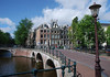 Corner of Herengracht (Patrician's or Lord's Canal) - and Leidseggracht (a side canal) - Amsterdam