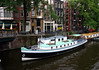 Houseboats along the canal in the Grachtengordel (Canal Ring) district - Amsterdam