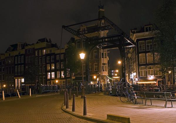 Drawbridge at night - Amsterdam