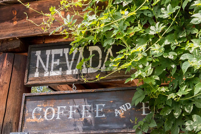 Nevada City Hotel sign