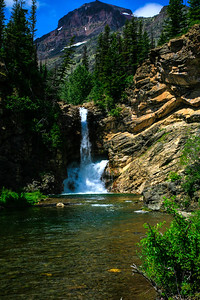 Waterfall-Glacier-National-Park-Montana-(c)-Bolio-Photography