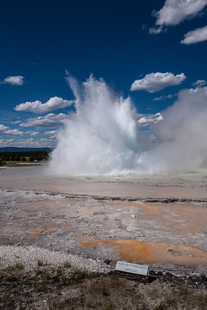 A scattered eruption Great Fountain Geyser