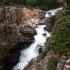 A mountain falls