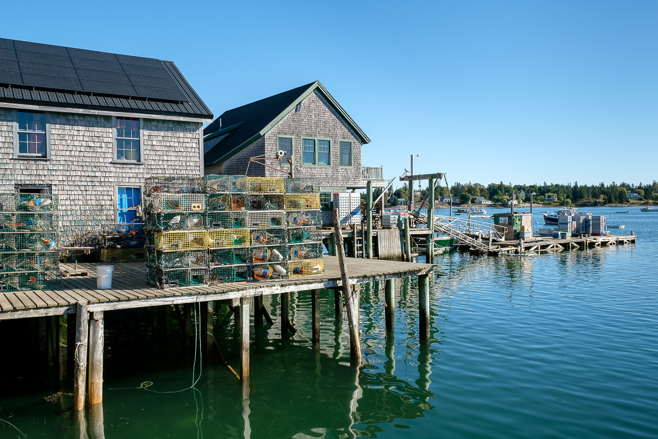 Lobster Processing Dock and Buildings