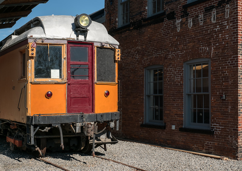 Philadelphia & Western Railroad Company Trolley #401 at Steamtown