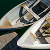 Two Rowboats Tied to Dock