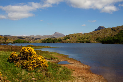 Lochinver area  with the Mountains of Canisp and Suliven.